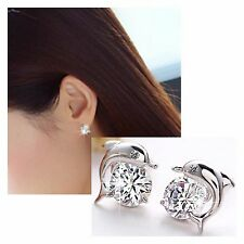 1 pair new shinning clover shape elegant stud earrings #E27