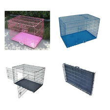 New 2 Door Pet Cage Folding Dog Cat Rabbit cage Crate Kennel ABS Tray Metal Wire