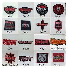 SLIPKNOT Sew On Patch Iron Embroidered Rock Band Heavy Metal Music Punk Badge