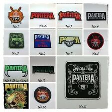 PANTERA Patch Embroidered Sew Iron On Rock Band Heavy Metal Music Logo DIY Badge