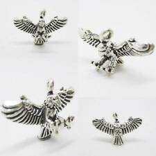 Eagle Hawk Bird 925 Sterling Silver Charm Pendant w Spacer / Bracelet or Chain