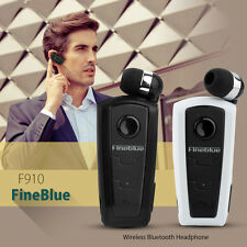 Fineblue F910 Clip Retractable Stereo Wireless Bluetooth V3.0 Headset Earphone