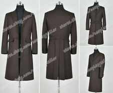 Who Is Doctor Cosplay The 4th Fourth Dr Tom Baker Costume Brown Wool Trench Coat