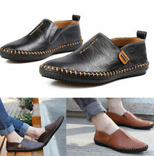 Fashion Mens Comfy Leather Casual Slip On Loafer Shoes Moccasins Driving Shoes W