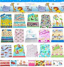 baby boy & girl bedding: pillowcases 2 piece sets for cot cot bed 100 % cotton