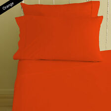 ORANGE 1000 TC 100%EGYPTIAN COTTON EXTRA DEEP POCKET BEDDING ITEMS ALL SIZES