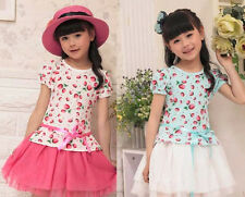 New Cheap Fruits Bay Toddler Kids Children Pageant Party Strawberry Dress