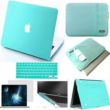 BL Turquoise Satin Hard Case Rubberized keyboard Cover For Apple macbook Pro Air