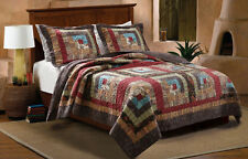 Quilt Bedding Set Country Home Bedspread Cabin Bedroom Patchwork Fabric Quilts