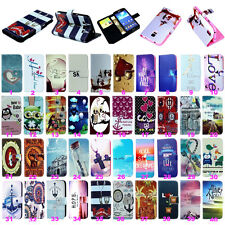 Patterned Leather Stand Flip Wallet  Hybrid Case Cover For Samsung Galaxy Phone