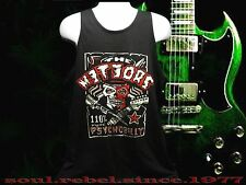 PUNK ROCK THE METEORS 110% PURE PSYCHOBILLY  TANK TOP T SHIRT MEN'S SIZES
