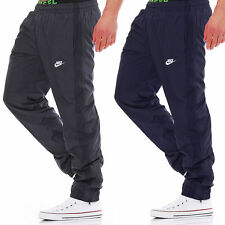 New Nike Mens Woven Tracksuit Jogging Bottoms Track Pants Joggers - Grey & Blue
