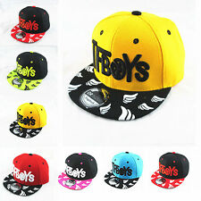 Baby Boys Girls Kids  Baseball Cap Peaked Visor Snapback Adjustable Hip Hop Hat
