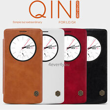 NILLKIN Thin Qin PU Leather Smart Flip Wallet Pouch Cover Case for LG G4