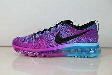 Nike Womens Flyknit Max Flash Blue Chlorine 620659-502 7.5-11 air 1