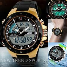 New Sport LED Date Dive Analog&Digital Multi-function Wrist Watch Mens Womens