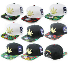 MARIJUANA Snapback Hip-Hop Cap Adjustable Flat Bill Hat Fashion Baseball Cap