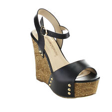 DE BLOSSOM COLLECTION MADNESS-5 Women's Stud Platform Ankle Strap Wedge Sandals