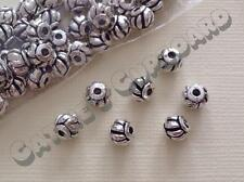 25 or 50 x Antique Silver Lantern Alloy Spacer beads 8mm - Jewellery Findings