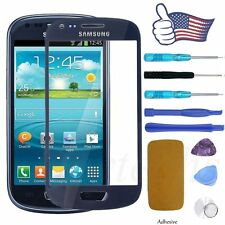 Front Screen Lens Glass Replacement Blue Repair Kit for Samsung Galaxy S3 Mini