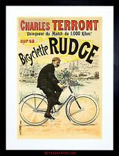 AD RUDGE BICYCLES CYCLING STAR TERRONT WHEEL UK FRAMED PRINT F97X2416