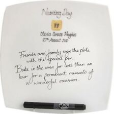 Personalised Naming Day Gift Signature Plate