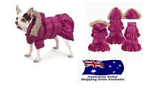 Dog Weather Resistant Parka Fur Hood  XS S M- Chihuahua Jacket Puppy Pet Clothes