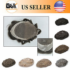 GEX Toupee Mens Hairpiece Bella Basement Wig Human Remy Hair Replacement Systems