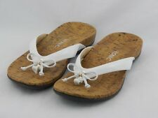 Vionic by Orthaheel Cassie White Orthotic Thong Sandals PREOWNED