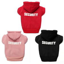 SECURITY Pet Dog Warm Sweatshirt Hoodie Sweater Jumper Dog Clothing XS S M L XL