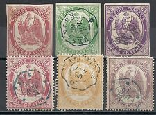 France stamps 1868 collection of 6 TELEGRAPH stamps  UNG/CANC  HIGH VALUE!