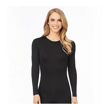 NEW Cuddl Duds Climatesmart Long Sleeve Crew CD8412241 Black XS