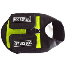 Service Dog Vest Harness Removable 2 FREE Magic Patches w/ POCKETS & Side Bags