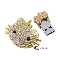 1- 4GB 8GB 16GB Crystal Metal USB Flash Memory Pen Drive Thumb Stick Key Storage