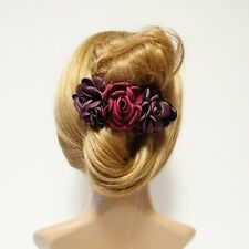 Rose Decorative 6 Prong Side hair Slide Jaw Claw Clamp