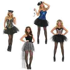 Tutu Army Girl Cop Outfit Leopard Corset Ladies Fancy Dress Halloween Costume