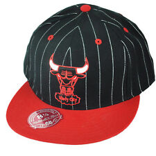 NBA Mitchell & Ness TS52 HWC Chicago Bulls Pinstripe Fitted Black Hat Cap