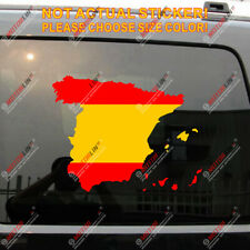 Spain Spanish Flag Map Espana Espanol Car Trunk Decal Sticker