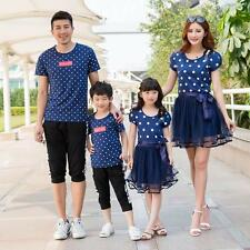 Causal Matching Family Colthes Short Sleeve O-Neck Cotton Father and Son T Shirt