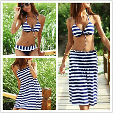 New Women's Sexy Bikini Push-up Padded Swimsuit Sports + Beach Dress Plus Size