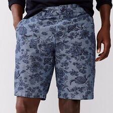 Gap Men stylish Lived-in blue chambray floral printed 100% cotton shorts