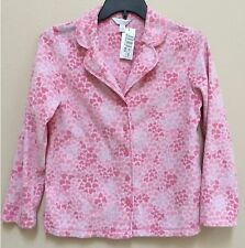 NEW Charter Club Long Sleeves Fleece Pajama Sleep Top Pink Small