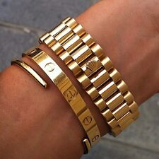 Kim Kourtney Kardashian 18k Gold screw Design Braccialetto Love Bracciale taglia 16