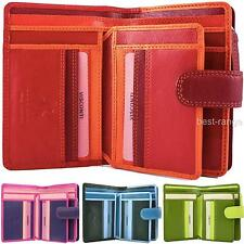 Ladies Soft Real Leather Purse Wallet Multi Colour Visconti New in Gift Box RB51