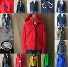 ABERCROMBIE KIDS BOY jacket SIZE S M L XL NWT blue Green RED gray HOODIE zip NEW