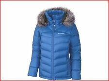 Columbia Women Winter Hooded Down plus size 1X - 2X  jacket Coat ski Blue New