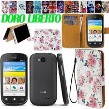 Stand Flip Card Wallet Pu Leather Cover Case For Various Doro Liberto Smartphone