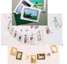 """Hanging Paper Frame  Album Clips Rope Pictures Wall Decor For 7"""" Photo Film"""