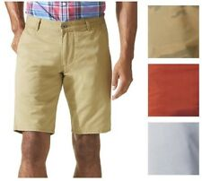 Men's NWT Dockers Alpha Flat Front Khaki Shorts Cotton Chino Camo Red Pale Gray