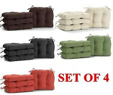 Microfiber Chair Pads Cushion Tie 4 pcs Seat Pillow Soft Sofa Dining Deck Garden